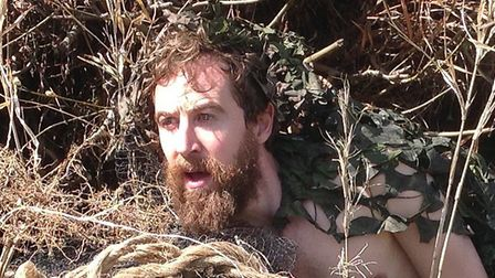 Martin Bonger as the eponymous Wildman in Return of the Wildman which is being staged at Halesworth'