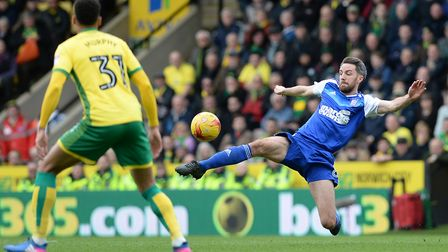 Town and Norwich do battle at Portman Road on Sunday. Picture: PAGEPIX LTD