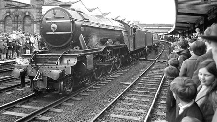 The Flying Scotsman at Ipswich Station, May 17,1969. (Photo by David Kindred/Archant).