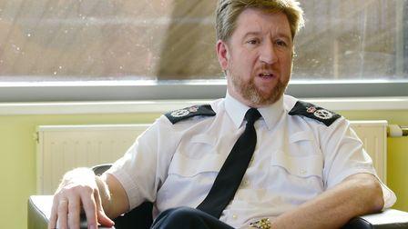 Norfolk Chief Constable Simon Bailey announced huge changes to the police on Thursday. Photo: Steve