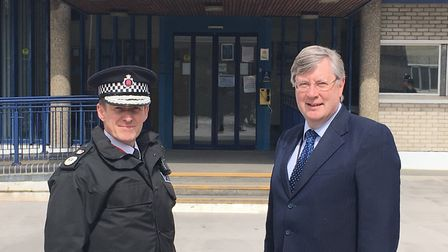 Chief Constable Stephen Kavanagh (left) with Police and Crime Commissioner Roger Hirst. Picture ARCH