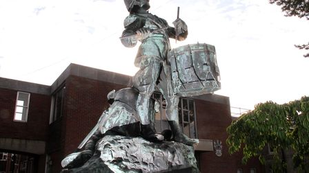 The Drummer Boy statue outside the former Suffolk Coastal District Council offices in Woodbridge