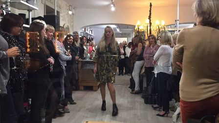 The fashion show in Woodbridge raised £450 for the charity. Picture: BILL WOLFF-EVANS