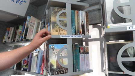 A mobile library in action, travelling around the county