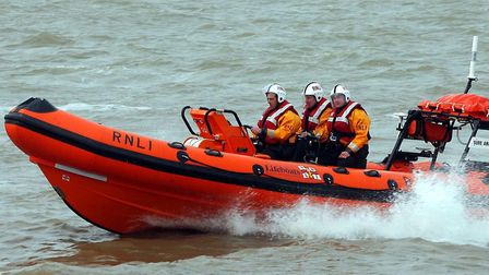 A lifeboat crew in action. Picture: ARCHANT LIBRARY