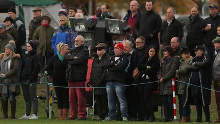 Crowds watch on at St Jo's College.Picture: SEANA HUGHES