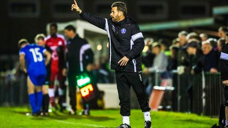 Leiston boss Glenn Driver, disappointed on his team's first defeat of the season in the league midwe