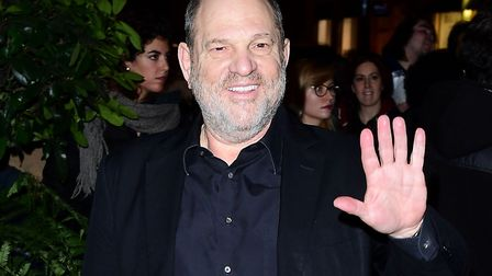 Disgraceed film producer Harvey Weinstein pictured attending the Evening Standard Film Awards in Lo
