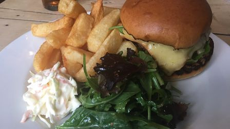 Restaurant review, The Ship, Dunwich: The burger was juicy, filling and well made.
