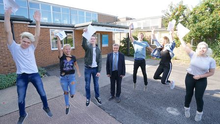 Alde Valley Academy students celebrate their GCSE results earlier this year.