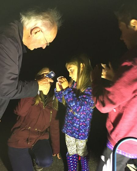 Moth trap evening with Sudbury Watch Group