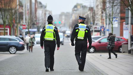 File image of police patrolling London Road in Lowestoft. Picture: NICK BUTCHER