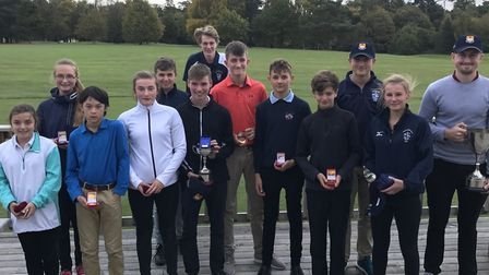 Winners at the Suffolk Schools' Golf Championships held at Hintlesham Golf Club. Picture: CONTRIBUTE