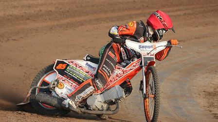 Jordan Jenkins is way out in front for Mildenhall. Picture: CAROL PRYKE-DOWNIE
