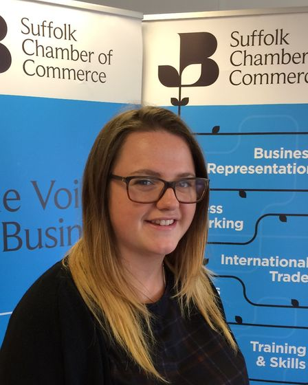 Kayleigh Streeton, Suffolk Chamber of Commerce. Picture: CONTRIBUTED