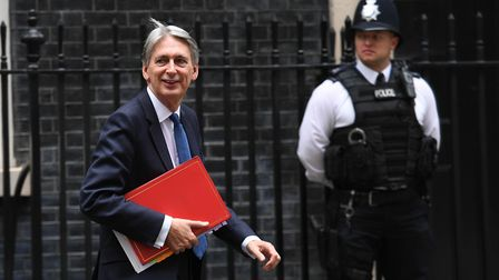 Chancellor Philip Hammond leaving 11 Downing Street. Picture: STEFAN ROUSSEAU/PA WIRE