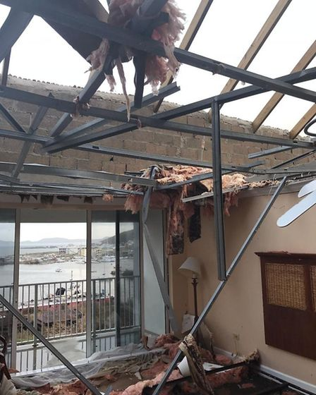 The damage in the British Virgin Islands PC Pete French and PC Jon Harvey encountered in the wake of