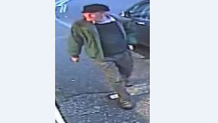 Essex Police have released CCTV images of a man who they would like to talk to in connection with th