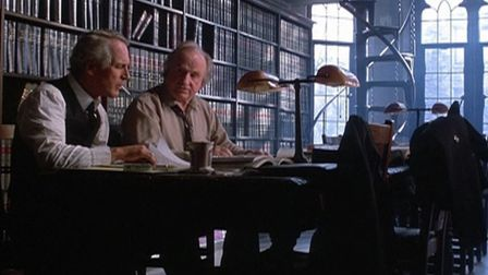 Paul Newman stars as alcoholic lawyer Frank Galvin alongside Jack Warden as Mickey in the courtroom