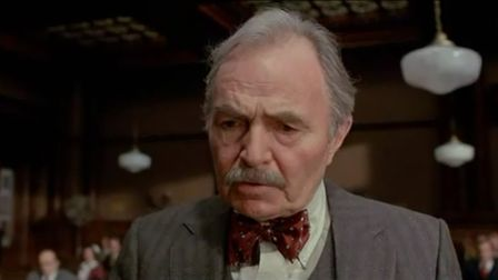 James Mason co-stars as Quincannon the hospital's sharp defence councel in the courtroom drama The