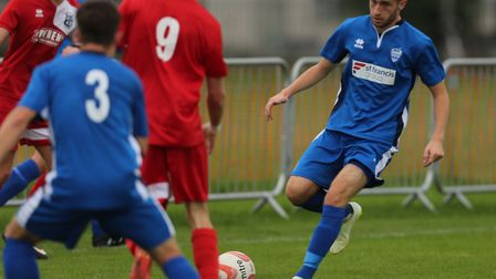 Michael Brothers got on the scoresheet for Brantham.Picture:SEANA HUGHES