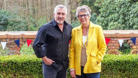 Great British Bake Off judges Paul and Prue. Picture: � Love Productions / Channel 4 / Mark Bourdill