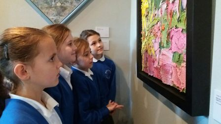 Woodhall Primary School pupils take a closer look at the work of artists George Rowlett at Gainsboro