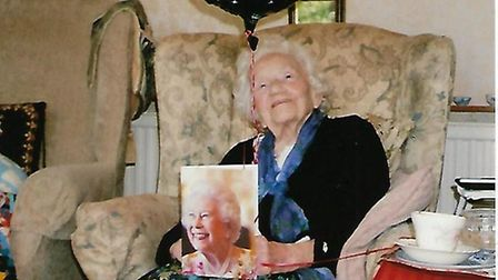 Sister Hilda Durrant on her 100th birthday. Picture: CONTRIBUTED