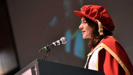 Author Esther Freud was recognised by the University of Suffolk for her work in the field of literat
