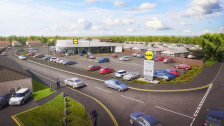 Proposed plans for a new Lidl store in Common Lane North, Beccles. Picture: LIDL UK