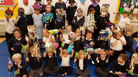 Pupils at Wilby Primary School's Green evening. Picture: WILBY PRIMARY SCHOOL