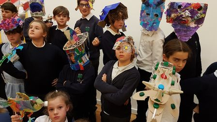 The event included some of the pupils' recycled costumes. Picture: WILBY PRIMARY SCHOOL