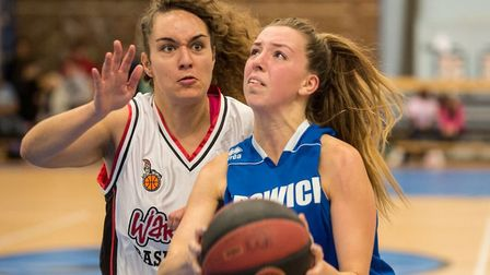 Danni Cazey scored 14 points for Ipswich at Worcester