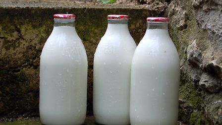 Staff at Lakenheath Community Primary School discovered two half-empty bottles of milk left in the f