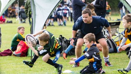 Action from the Woodbridge Rugby Club U7-12 Festival. Pictures: SIMON BALLARD