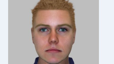 Police have issued this efit of a man they want to trace in connection with a rape in Colchester. Pi