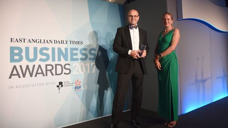Director Of The Year Award goes to Ian White, presented by Erika Clegg. Picture: SARAH LUCY BROWN