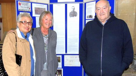 Pictured at All Saints Church, in Drinkstone, are the grandchildren of George Rose, David Rose, righ