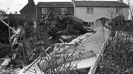 Damage to the Bardwell Mill in Bury St Edmunds. Picture: ANDY ABBOTT