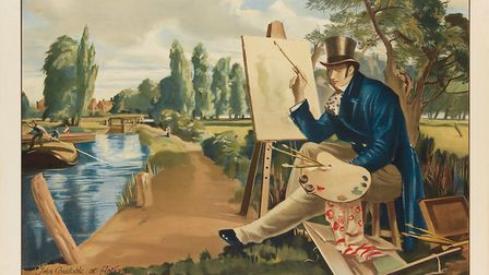 A unique railway poster featuring John Constable is set to fetch more than �900 when it goes under t