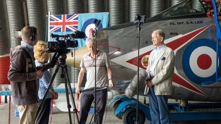 The film included interviews with veterans and residents who live nearby the base. Picture: KEITH RI