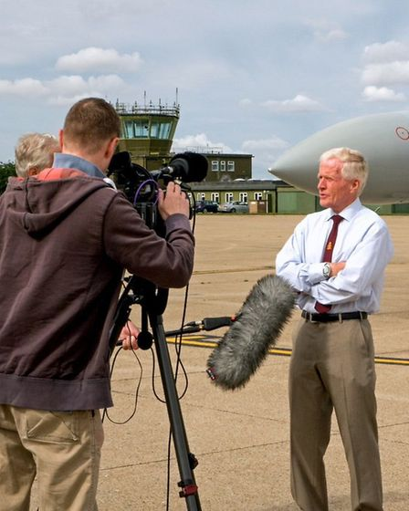 The new film detailing the history of Wattisham was screened on Saturday. Picture: KEITH RIMMER