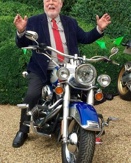 Terry Waite has fun at the Emmaus Suffolk fundraising event at Otley Hall. Picture: MANDY MUHS