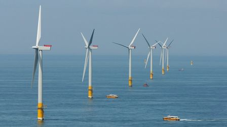 The Great Gabbard Offshore Wind Farm, off the Suffolk coast. East Suffolk is branding itself as the