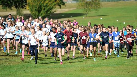 Action from the Suffolk Schools Area Championships at RHS, Hoolbrok