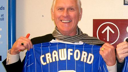 Ray Crawford helped fire Ipswich Town to the top-flight title in 1961-62. Photo: CONTRIBUTED