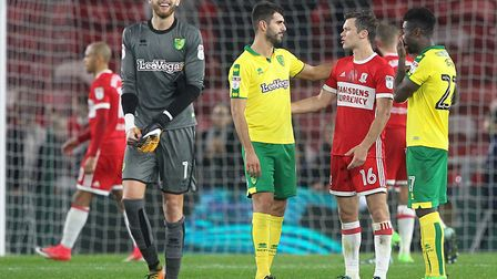 Angus Gunn, son of Bryan, is on loan at Norwich from Manchester City. Picture by Paul Chesterton/Foc