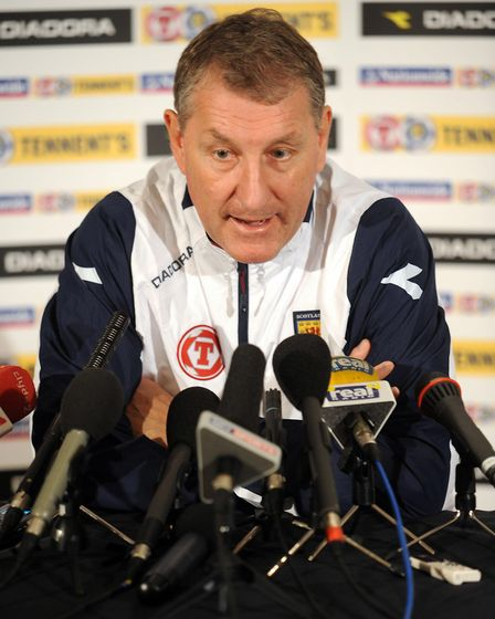 Terry Butcher, at a Scotland football press conference in 2008. He was a former assistant manager to