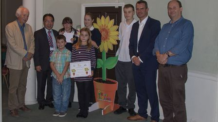 The Star Gardeners with Adrian Bloom, left, Patrick Chung and Nick Evans.