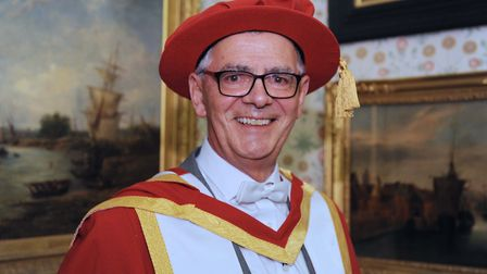 Professor Dave Muller received an honorary award from the University of Suffolk. Picture: JAMES FLET